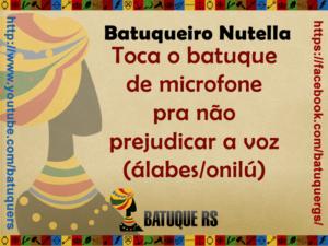 Batuque do Rio Grande Sul Campanhas Frases Humor Imagens Mensagens Redes Sociais Religião Afro Textos e Mensagens em Geral  - Batuqueiro Nutella